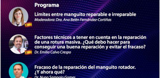 La Dra Ana Belén Fernández Cortiñas ejerce de ponente y moderadora en Webinar sobre roturas complejas de manguito rotador.